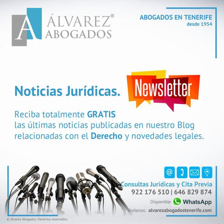 Boletín Noticias Jurídicas. Reciba totalmente GRATIS las últimas noticias publicadas relacionadas con el Derecho y las novedades legales en Tenerife. https://alvarezabogadostenerife.com/?p=9253