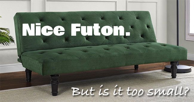 The Tufted, Mid-Century Orfino Velour Futon has Lots of Style and Only Costs $200, but it Is a Small Futon Best for Small Spaces, Kids Rooms or Dorms.