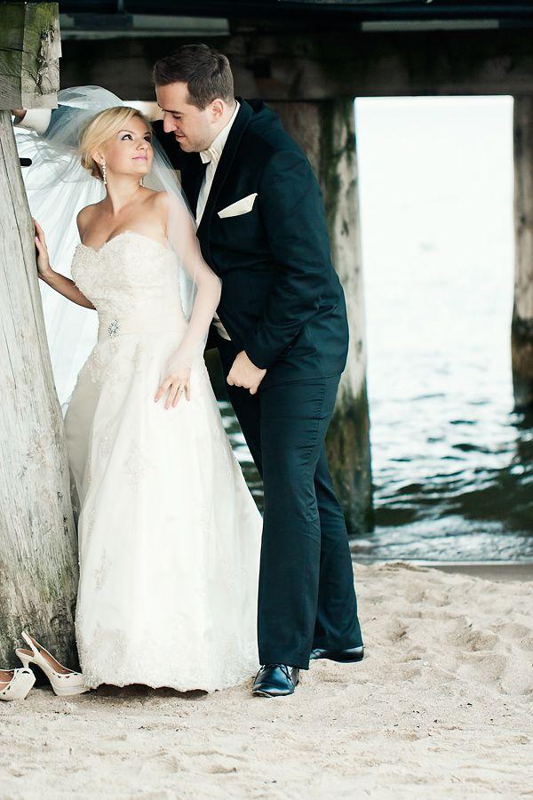 wedding, marriage, white dress, sea, ślub, zdjęcia ślubne, suknia ślubna, morze, plaża, Sopot