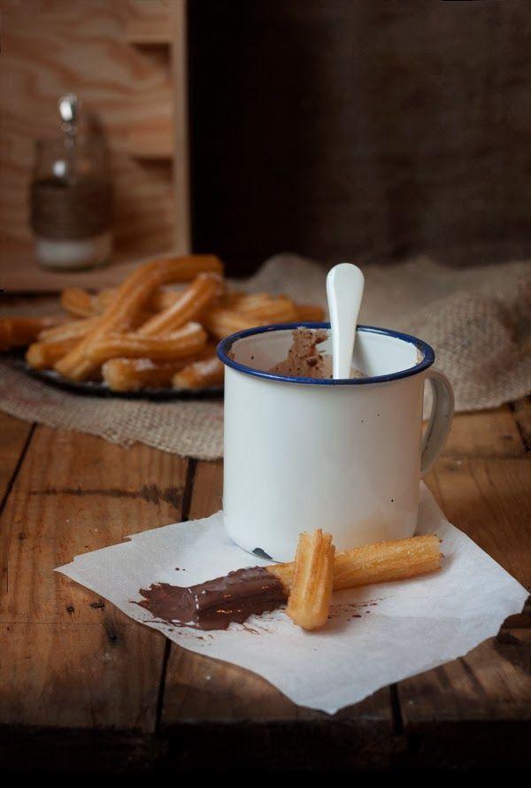 CHURROS CON CHOCOLATE A LA TAZA. | Sweet And Sour