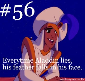 Next time I watch Aladdin I need to take better note of this. Disney does lots of little things like that.