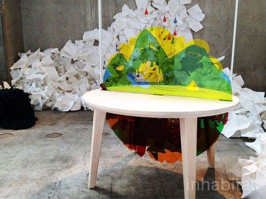 tell me, Johanna Larsson, table, storytelling, HDK, child culture design, milan design week