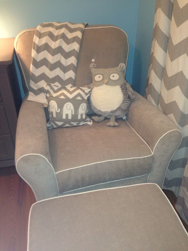 Baby Boy Nursery Elephant Grey And Blue Boy Nursery