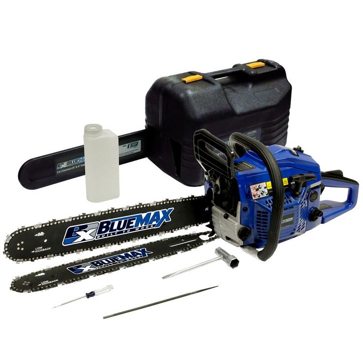 Blue Max 2-In-1 20 in. and 14 in. 45cc Gas Chainsaw Combo with Blow Molded Case