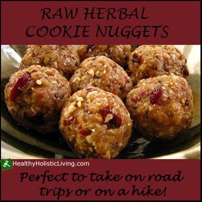 Are you looking for a nutrient packed snack that you can take on the run? Try these amazing raw herbal cookie nuggets