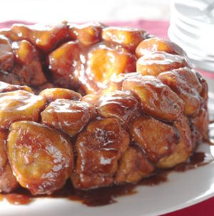 Monkey Bread is a dangerous thing! This version is made with sweet bread dough rolled in brown sugar and cinnamon. The brown sugar creates a caramelly sauce that's totally addictive.