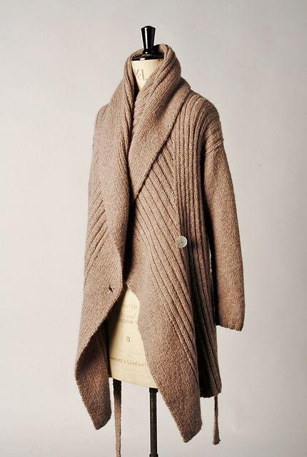 Ravelry: shawl collar wrap pattern by Jennie Atkinson