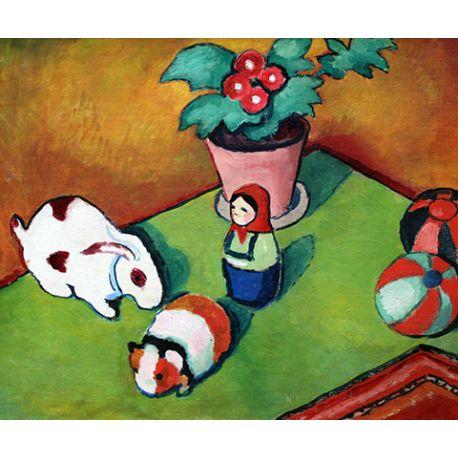 Little Walter`s Toys - August Macke - reprodukcje na płótnie - Fedkolor