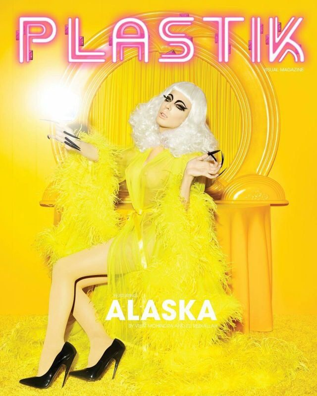Alaska Thunderfuck 5000, on the cover of PLASTIK magazine, RPDR5