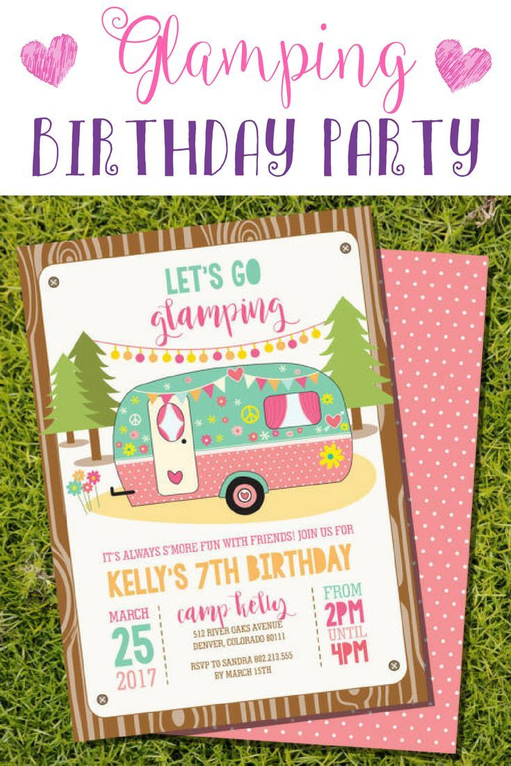 Glamping Birthday Party Theme So Cute Girl Tween Ad Affiliate