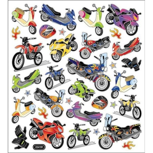Tattoo King Multicolored Stickers-Motorcycle Mania - motorcycle mania