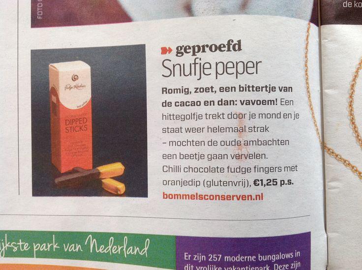 De echte Engelse Fudge Fingers in het Algemeen Dagblad  #AD