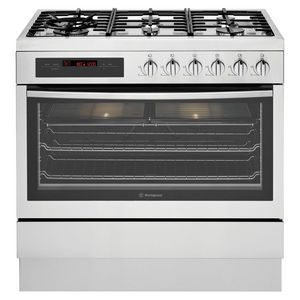Westinghouse Dual Fuel Freestanding Gas Cooker 6 Burner Stainless Steel 90cm WFE916SA