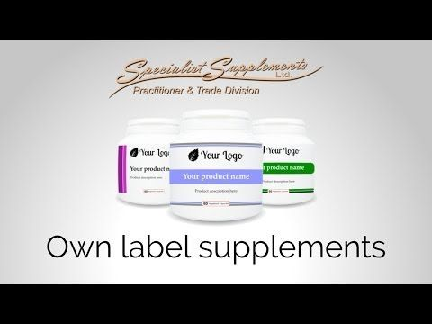 OWN LABEL SUPPLEMENTS: Want to start your own range of supplements? Watch our video to find out how! We supply wholesale supplements, vitamins, minerals and herbal formulations that are available for re-sale under your own private labels. No minimum orders, no monthly fees or other commitments. Our Own Label service is a quick and easy way to get your unique product range up and running fast - all for a small one-off fee!