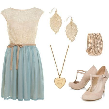 Light Blue and Nude - Your own fashion