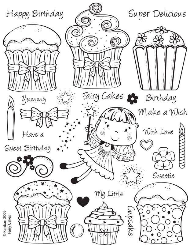 Fairy Cakes Stamps