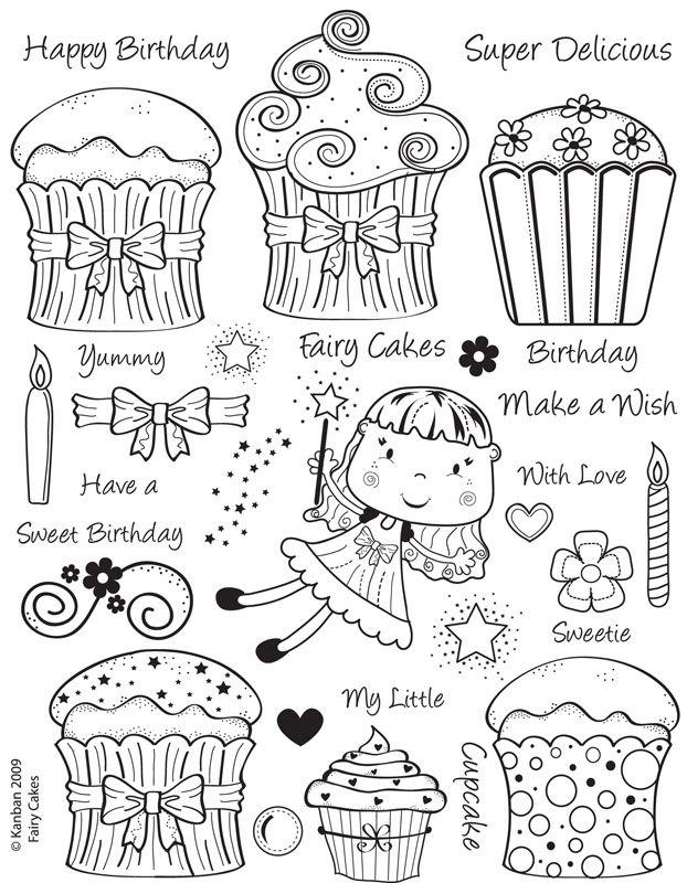 Fairy Cakes  :) para bordar.