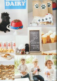 Hairy Maclary is 30! party - Dog biscuits made with cutter from Kiwicakes (appeared in Oh Baby! magazine)