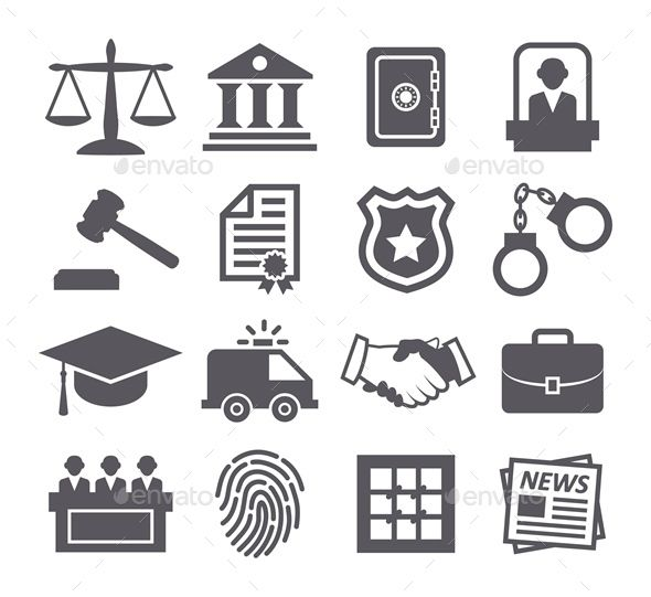 Law Icons — JPG Image #legal #jury • Available here → https://graphicriver.net/item/law-icons/9404314?ref=pxcr