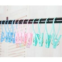 12pcs Multipurpose Portable Travel Windproof Clothespins Laundry Bra Socks Underwear Hanger Clip(China (Mainland))