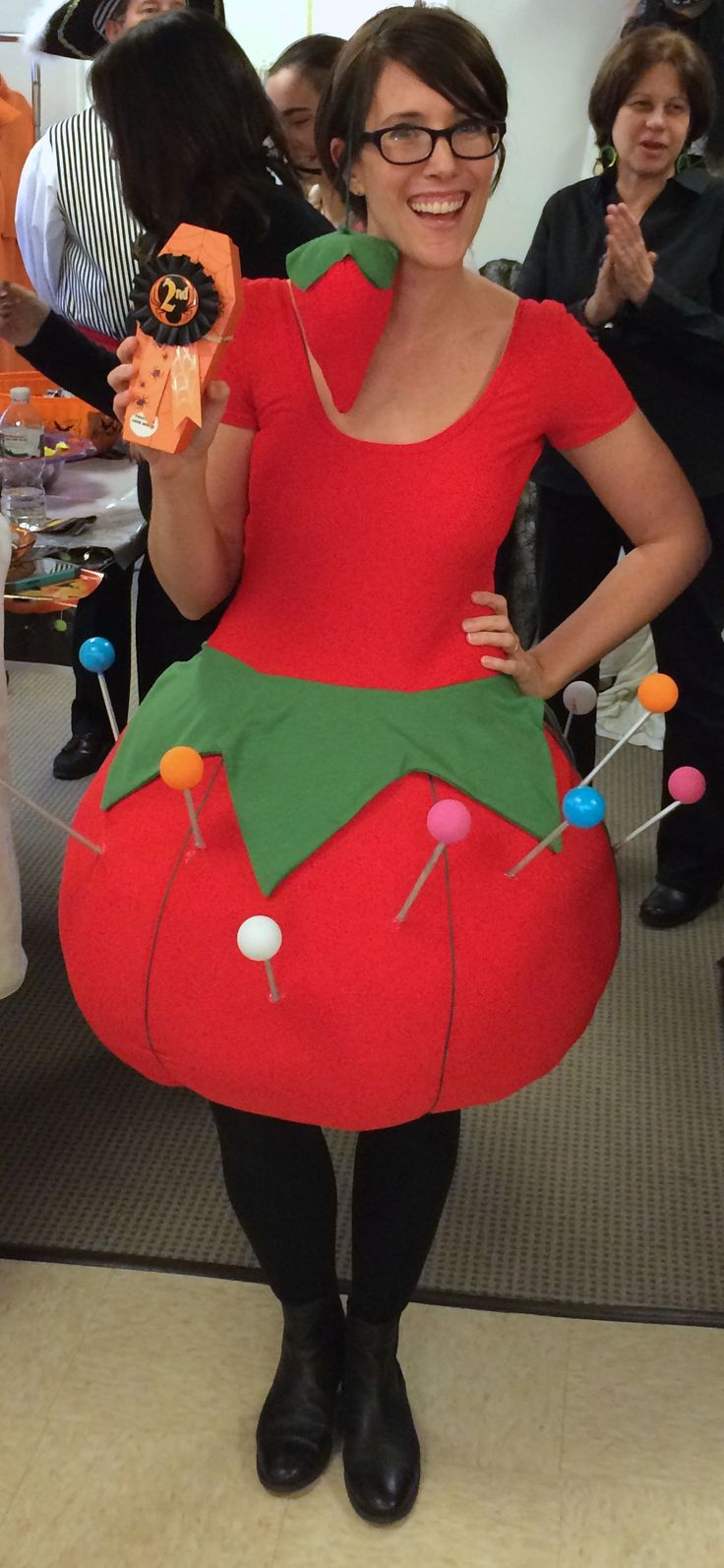 Pincushion costume! Second-place winner at the annual McCall Pattern Company costume contest & employee lunch. #sewingcostume