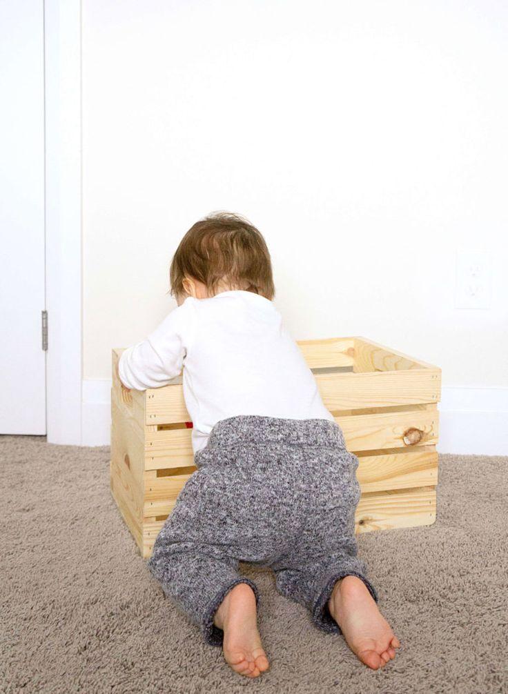 DIY Wooden Crate Shelf | Haute & Healthy Living  – Laundry room