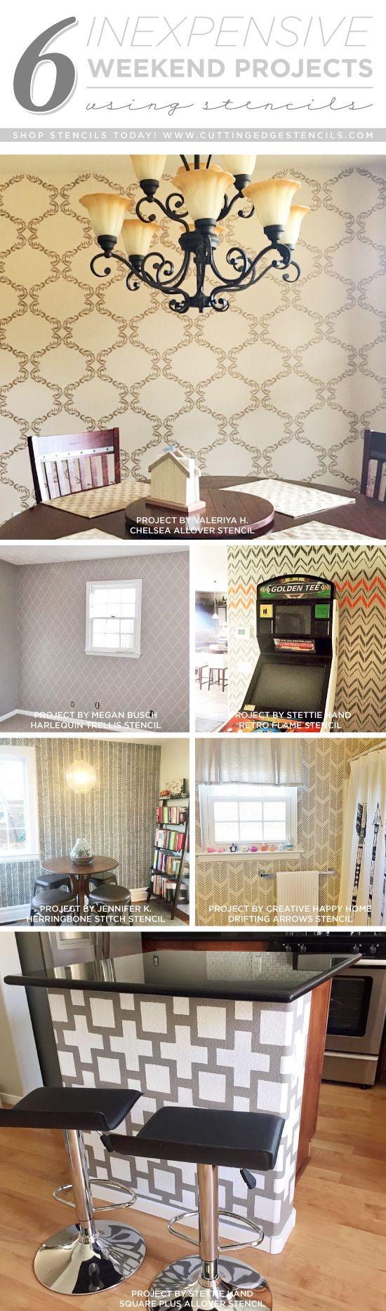 Cutting Edge Stencils shares DIY home decorating ideas using wall stencil patterns. http://www.cuttingedgestencils.com/wall-stencils-stencil-designs.html