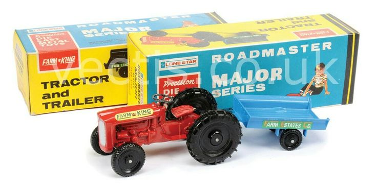 Lone Star (Roadmaster Major Series) No.1258 Tractor and Trailer - red, blue -