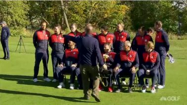 Watch Tiger get booted from Ryder Cup team photo