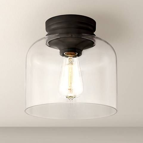 """Feiss Hounslow 9"""" High Oil Rubbed Bronze Ceiling Light - #5P226 