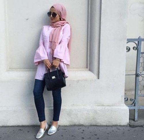 pink blouse hijab look- Hijab fashion and Muslim style http://www.justtrendygirls.com/hijab-fashion-and-muslim-style/