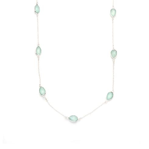 Lengthy Chalcedony Necklace.