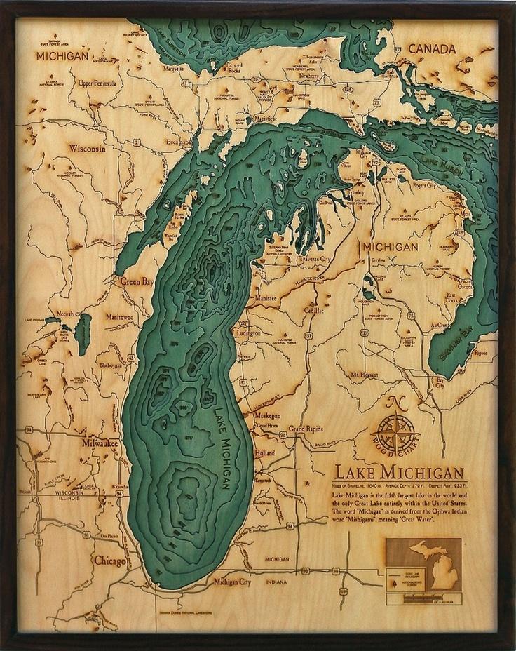 Bathymetric Map Lake Michigan 96 best Bathymetric