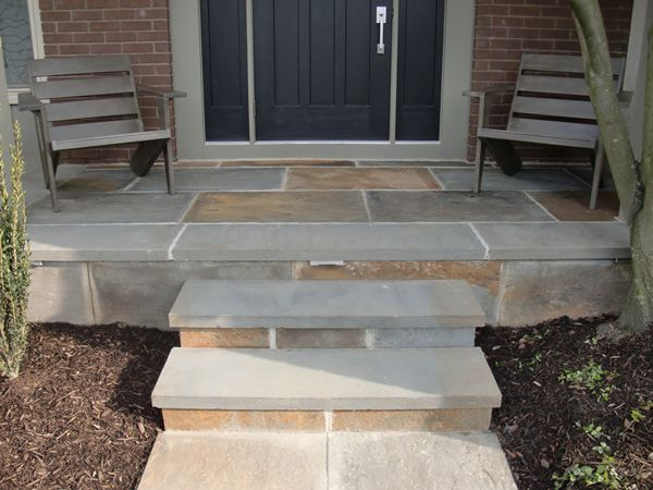 13 best pavers driveway images on pinterest driveways for Bluestone porch