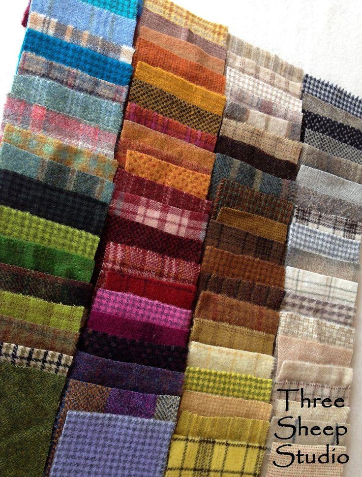 Wool Applique Charm Packs - at ThreeSheepStudio.com