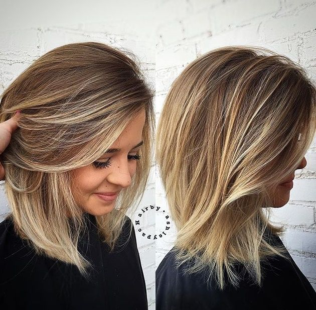 Средние волосы шатуш
