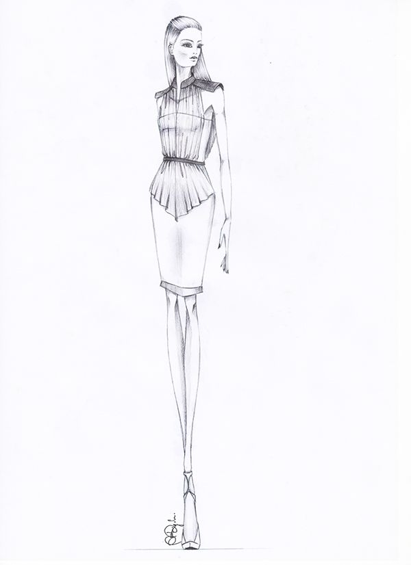 Fashion illustration - fashion design sketch // Andrea Angelucci