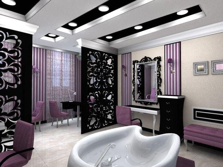 25 melhores ideias de decora o da sala do spa no for Pictures of beauty salon interior designs