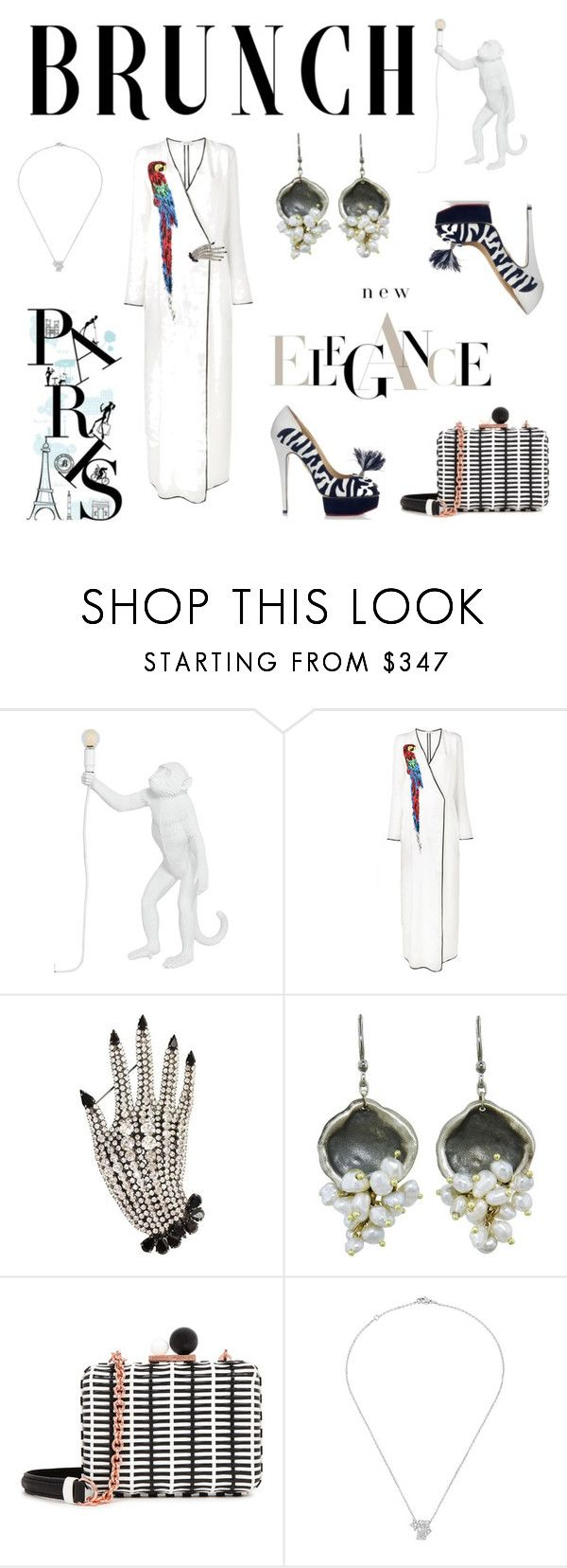 Brunch Style by love-kaleidoscope on Polyvore featuring Attico, Sophia Webster, Chanel, Ten Thousand Things, Butler & Wilson and Seletti