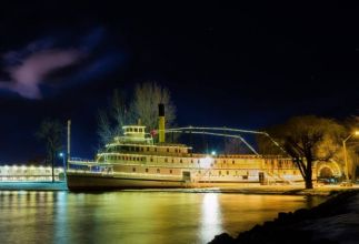 SS Sicamous at Night - Photo by Douglas Drouin.