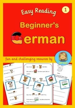 German reading and writing practice for beginners. This set of easy German texts and worksheets are for young and struggling learners of German. The texts are written in simple present. They follow the same pattern. All nouns and verbs are singular only.