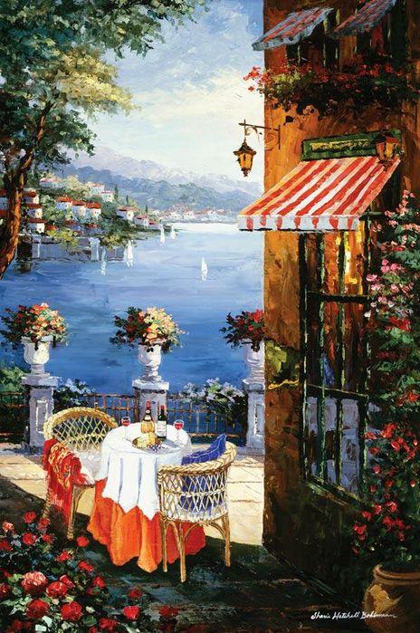 ART~ The Romantic Mediterranean~ Artist,  Sharie Bohlmann Hatchett