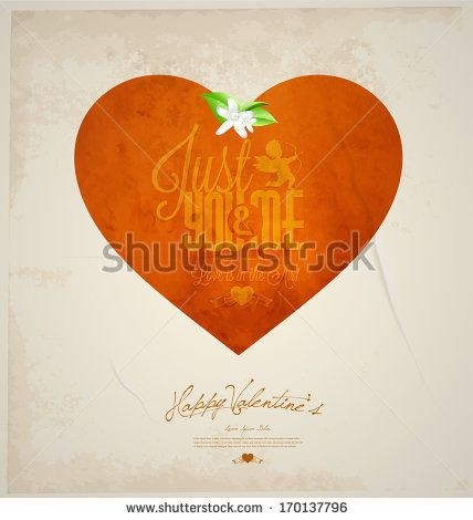 Happy Valentine's day card , and vintage background , heart, vintage,