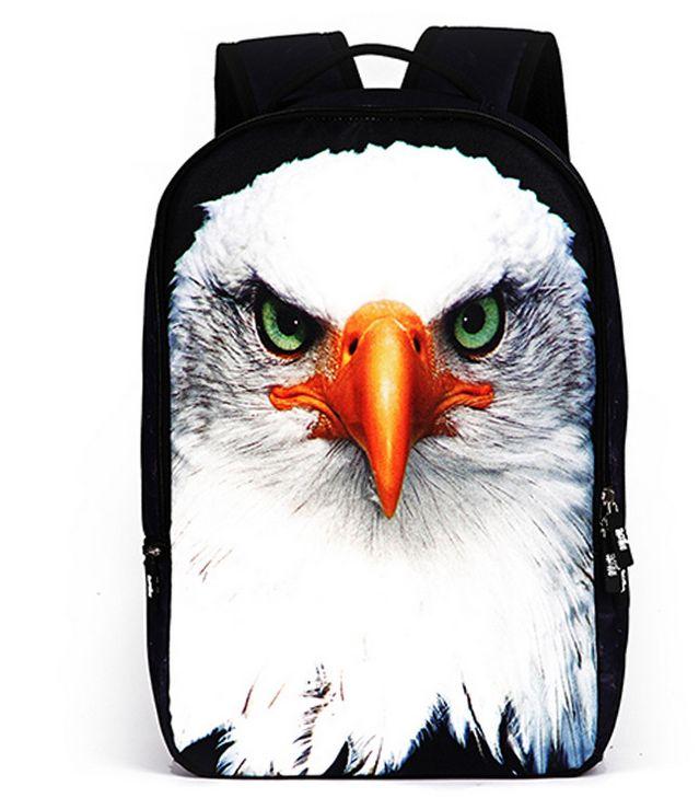 New Animal Eagle Backpacks For Women Men Children Cool School Bags Travel Casual Mochila