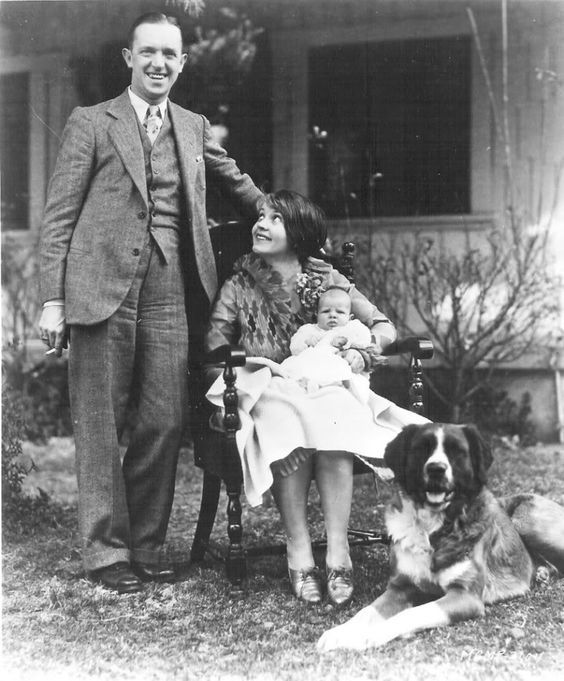 Stan Laurel and First Wife, Lois, with his daughter Lois Laurel: