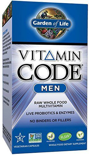 Garden of Life Vegetarian Multivitamin Supplement for Men – Vitamin Code Men's Raw Whole Food Vitamin with Probiotics, 240 Capsules //Price: $45.94 & FREE Shipping //     #hashtag4