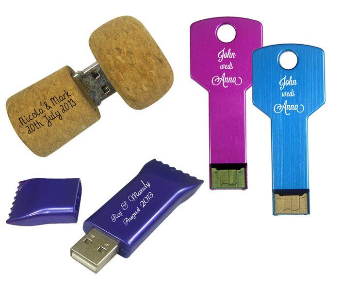 Branded USB wedding favours