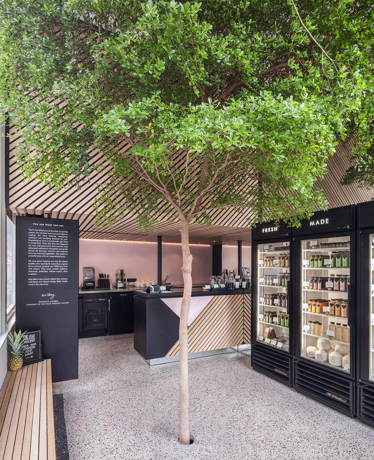 Standard Studio fügt dem Inneren des Amsterdamer Saftladens einen lebenden Baum hinzu
