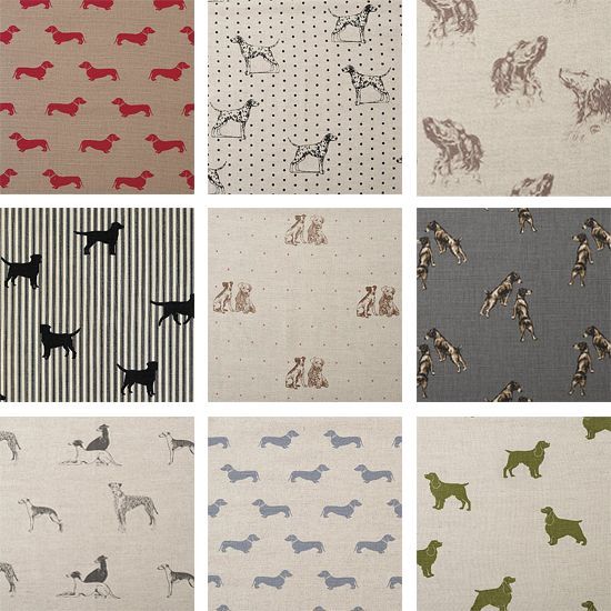 Check out these beautiful puppy inspired fabrics by Emily Bond! If you take a close look at the center image you can see a Russell! ;-) via Barkitect