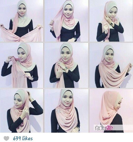 Radiusite :: hijab tutorial.. sweet color.. cotton candy..